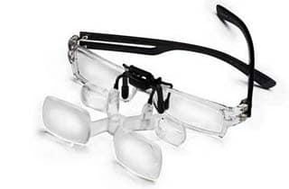 lupa con pinza para gafa maxdetail