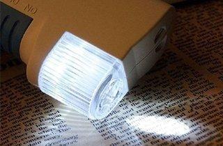 lupa para lectura con luz