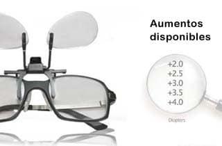 lupa para gafa con diferentes aumentos