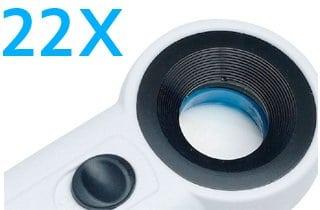 lupa con gran aumento de 22x para baja vision