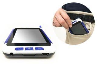 lupa electrónica de bolsillo para baja vision