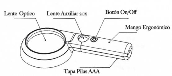 lupa iluminada 7x para baja visión