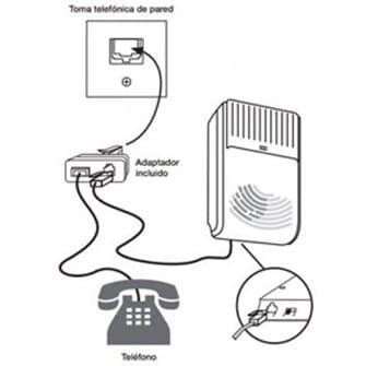 conexión del telefono y avisador