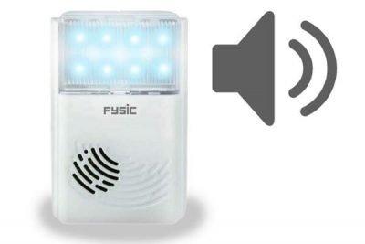 avisador con luz y sonido