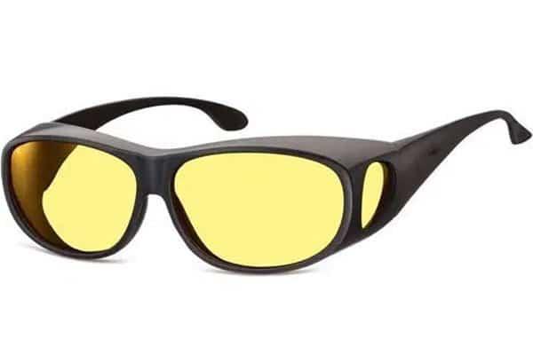 gafas amarillas y montura negra