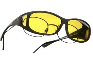 gafas amarillas para sobreponer