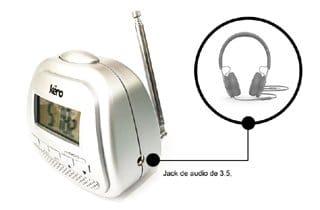 radio reloj con audífonos