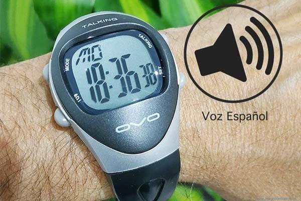 reloj parlante para ciegos de pulsera con voz en español