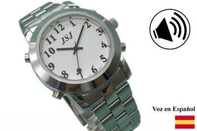 reloj en acero inoxidable con voz