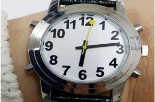 reloj analógico para baja visión