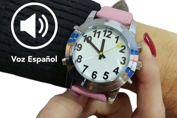 reloj con voz en español para dama