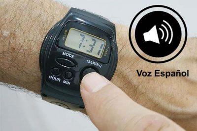 reloj de pulsera con voz en español