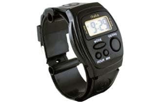 reloj para ciegos de goma negro