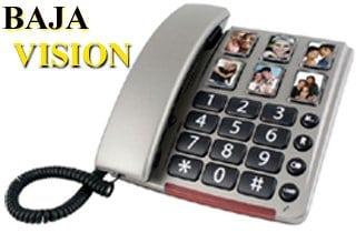 teléfono fijo para baja visión