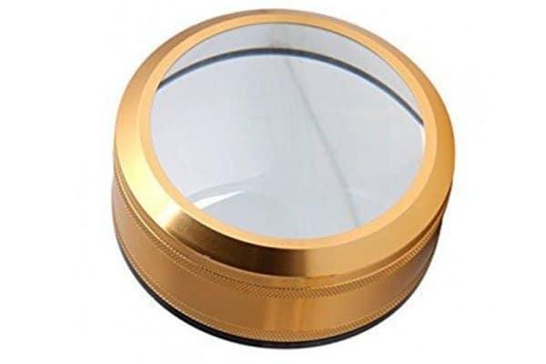 Lupa para Leer Libros circular dorada