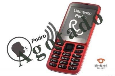 teléfono móvil agotado
